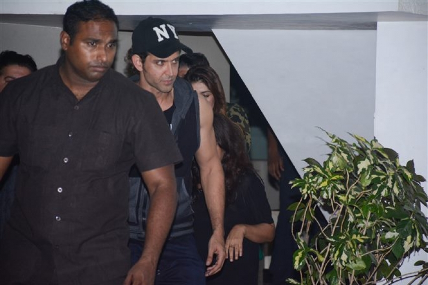 Hrithik Roshan, Chunkey Pandey & Other Celebs Spotted At Farhan Akhtar House Photos