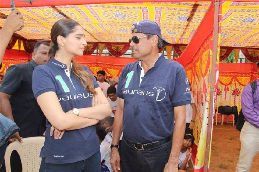 Kapil Dev & Sonam Kapoor Launch Magic Bus Project Initiative Photos