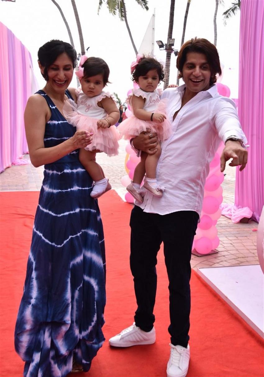 Karanvir Bohra Kids 1st Birthday Celebration Photos