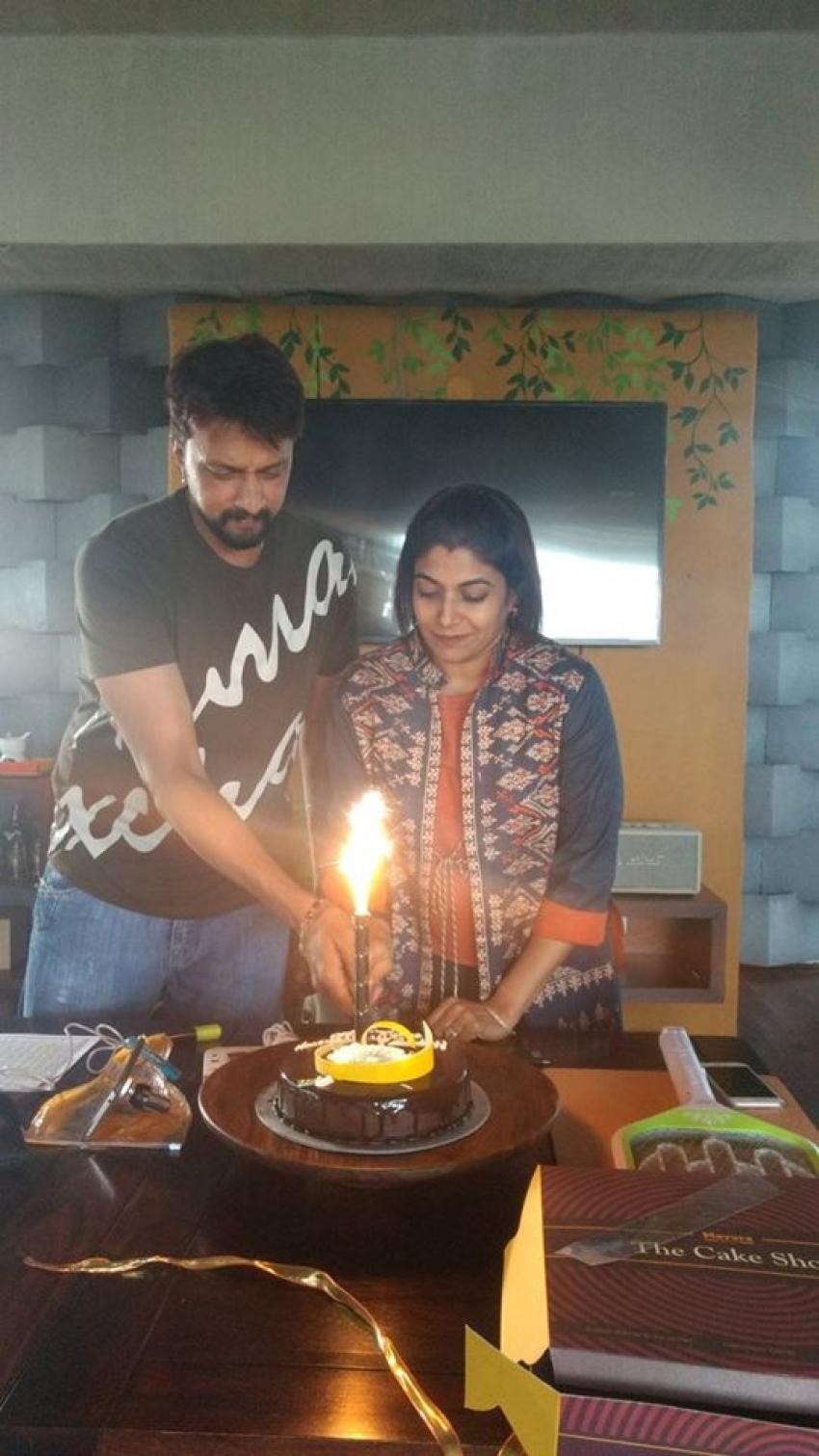 Kiccha Sudeep & Priya Celebrating Their Wedding Anniversary Photos