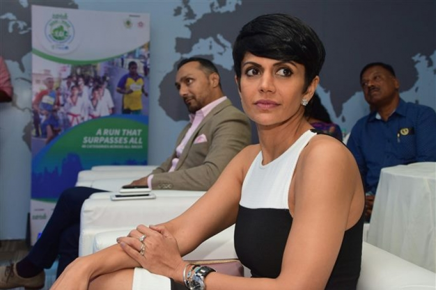 Mandira Bedi At Vasai Vira Marathon Photos