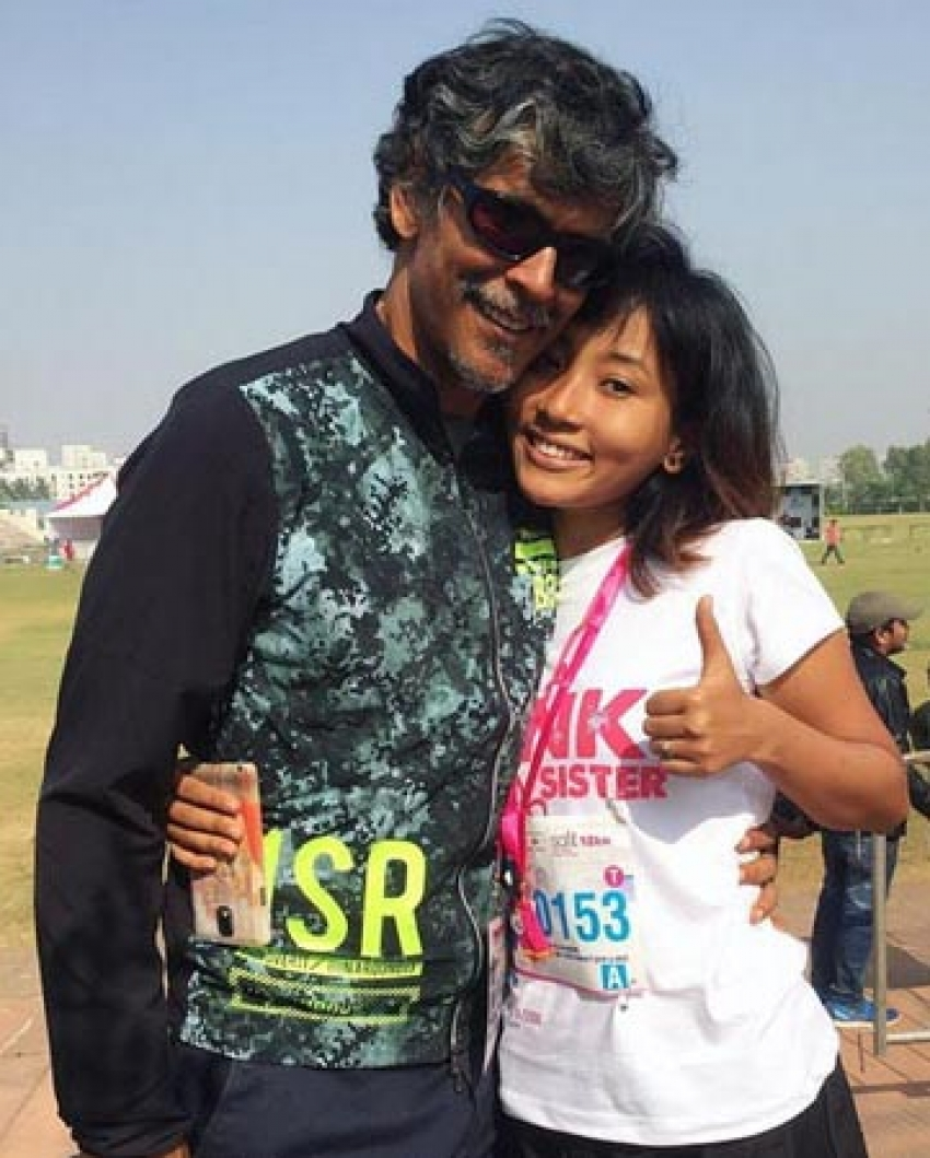Milind Soman's 18 Year Old GF Ankita Konwar Photos