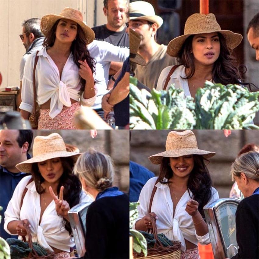 Priyanka Chopra During The Shoot Of Quantico 3 Photos