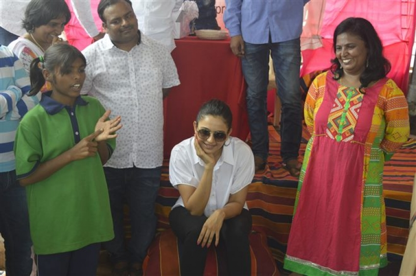 Rakul Preet Singh Birthday Celebrations at Cherish Orphanage Home Photos