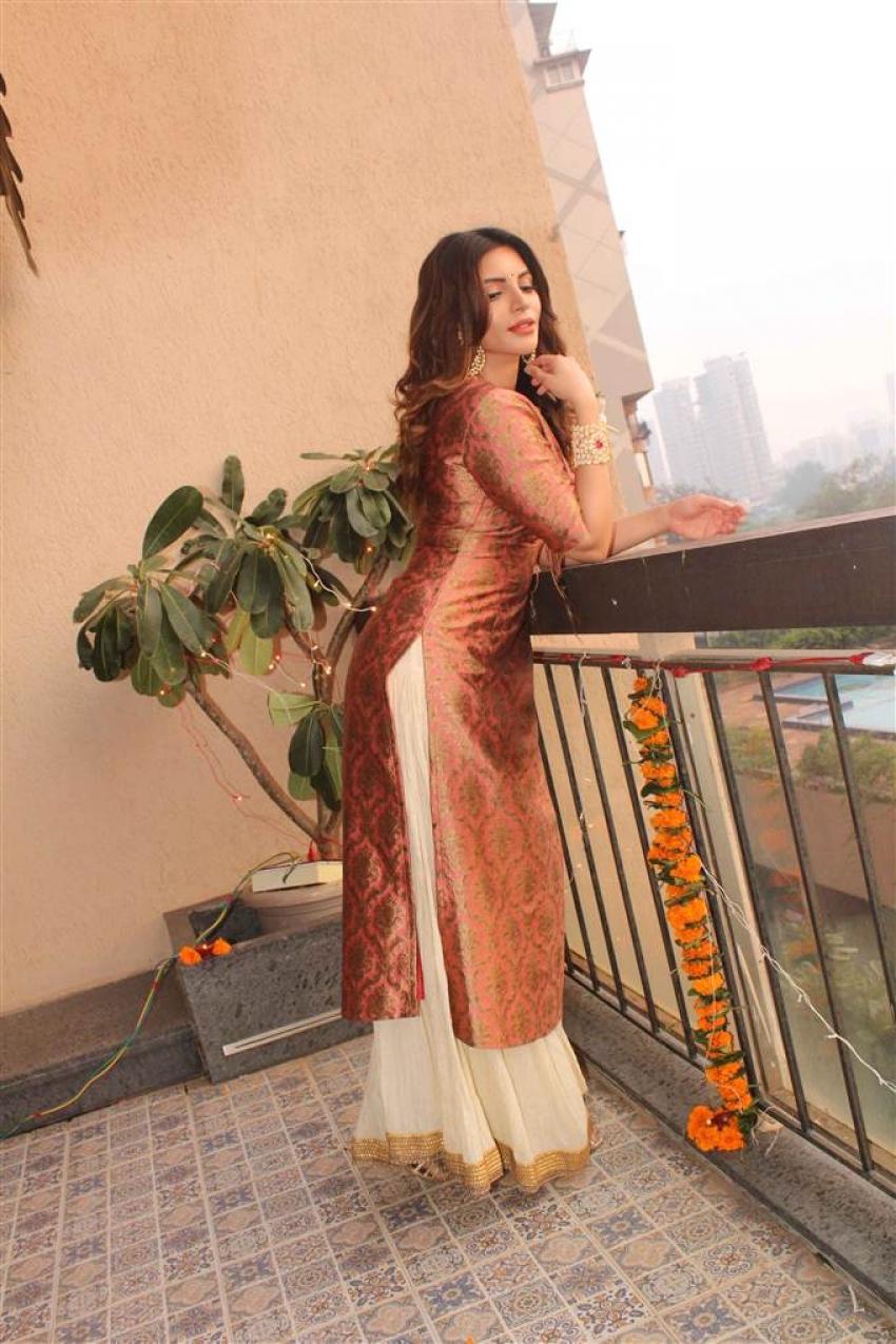 Shama Sikander Diwali 2017 Shoot Photos