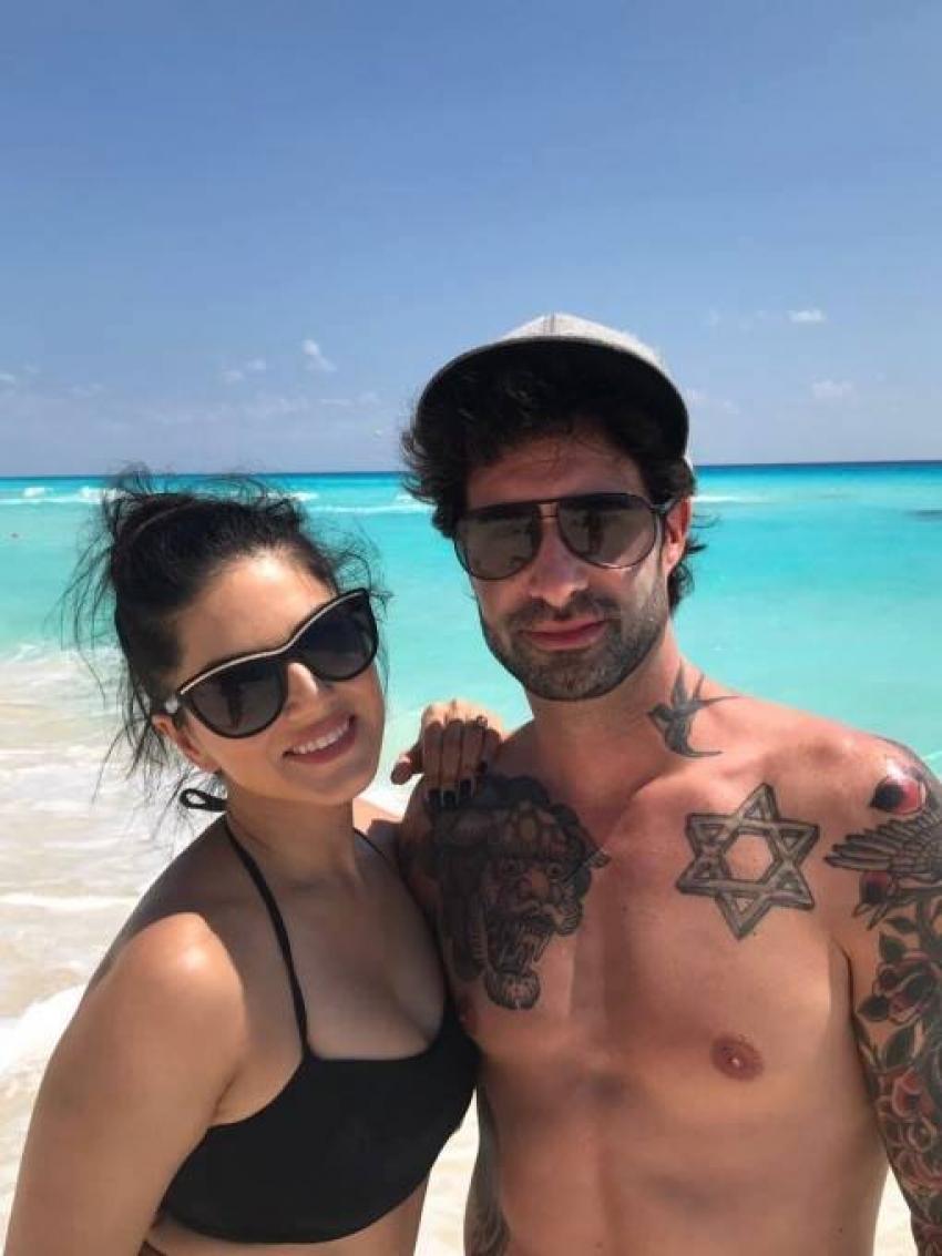 Sunny Leone and Daniel Webber's Beach Vacation