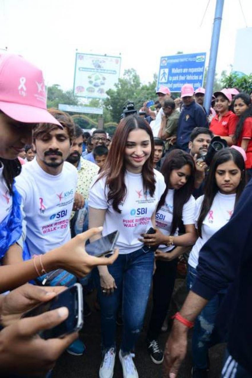 Tamannaah At Pink Ribbon Walk 2017