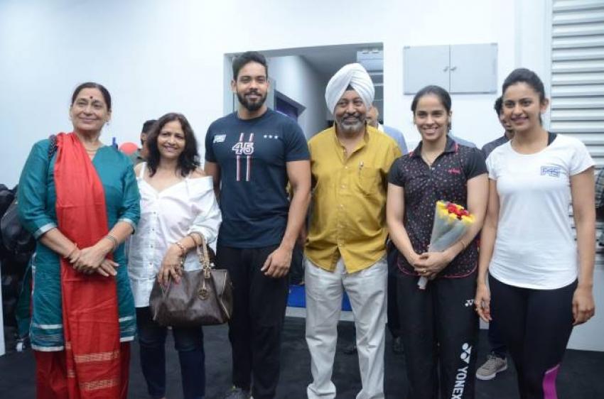 Saina Nehwal Launches Rakul Preet Singh's F45 Gym Photos