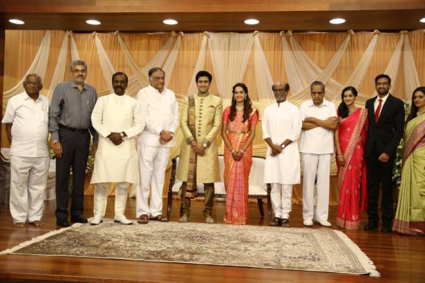 Super Star Rajinikanth Attended AVM Family Wedding Photos