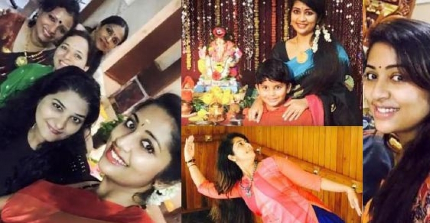 Navya Nair With Her Family Photos