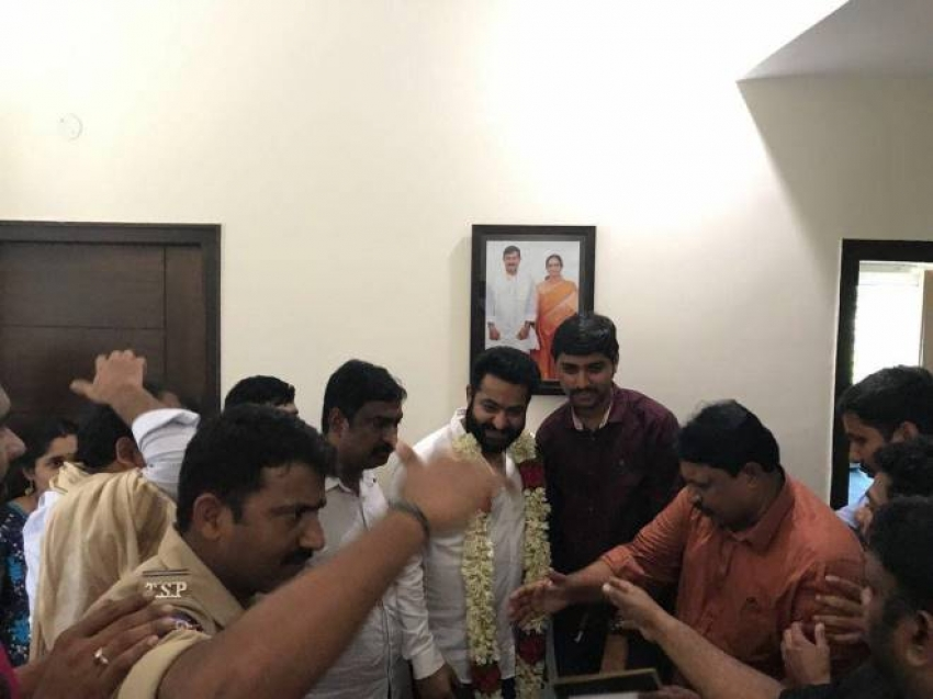 Jr NTR at Bhadrachalam Temple Photos