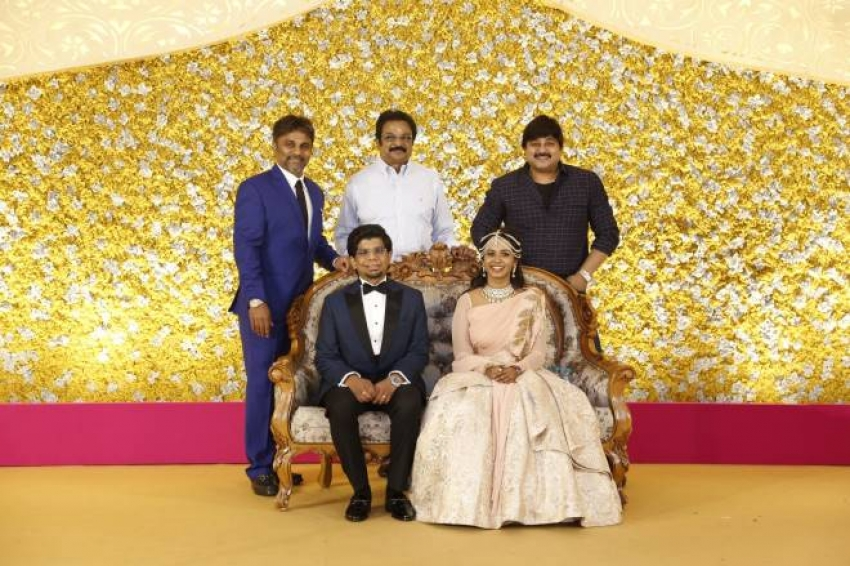 Kamala Theatre Owner Nagu Chidambaram's Son N.Surya Chidambaram & Meenu Lakshmanan Wedding Reception Photos