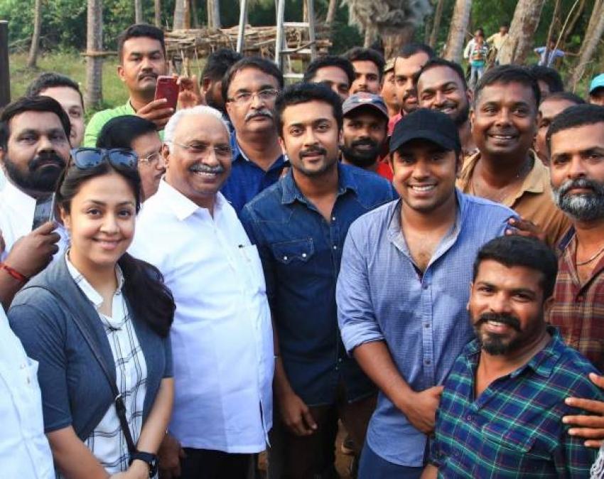 Surya & Jyothika Visits Nivin Pauly's Grand Set Photos