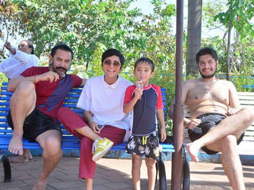 Aamir Khan Celebrates Azad Sixth Birthday At Themed Park Photos