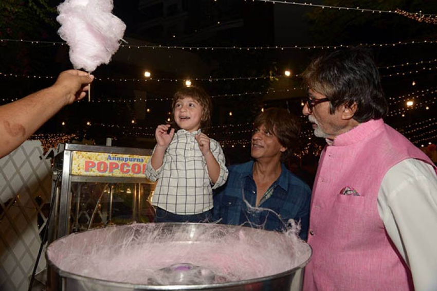 Amitabh Bachchan Treats AbRam Cotton Candy Photos