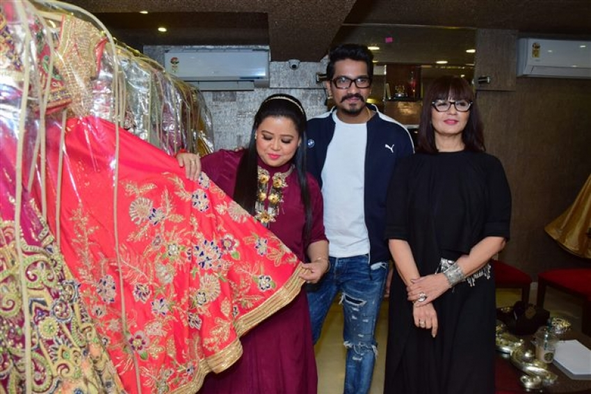Bharati and Harsh Visit Neeta Lulla Store Photos