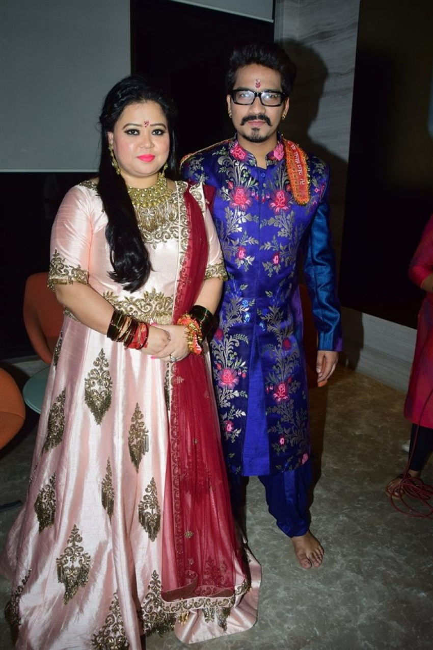 Bharti and Harsh Mata Ki Chowki Ceremony Photos