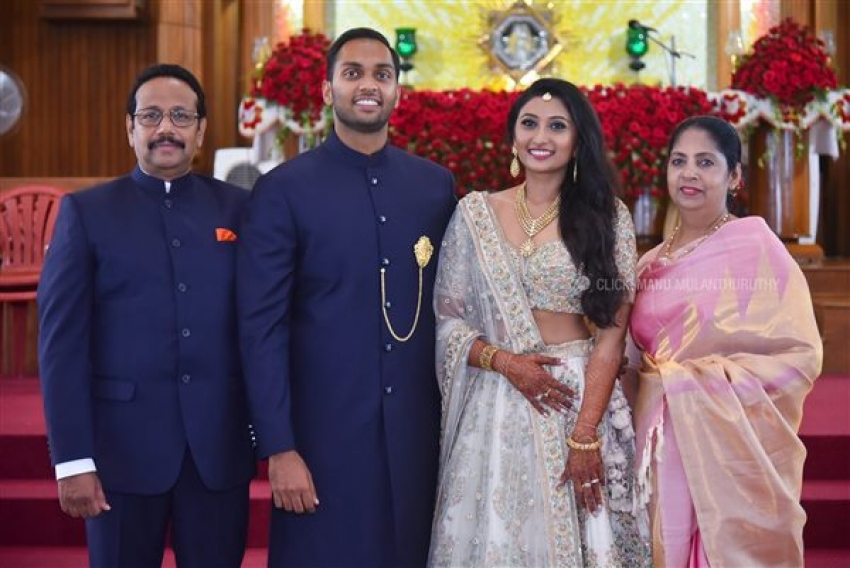 Director Lal's Daughter Engagement Photos