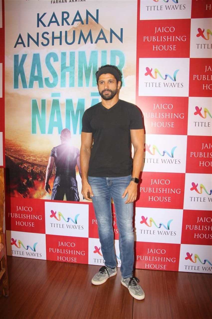 Farhan Akhtar Launches Karan Anshuman's Book Kashmir Nama Photos