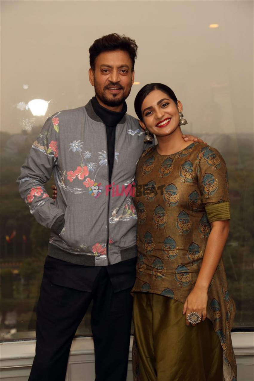 Irrfan Khan And Parvathy Press Meet For Qarib Qarib Single In New Delhi Photos