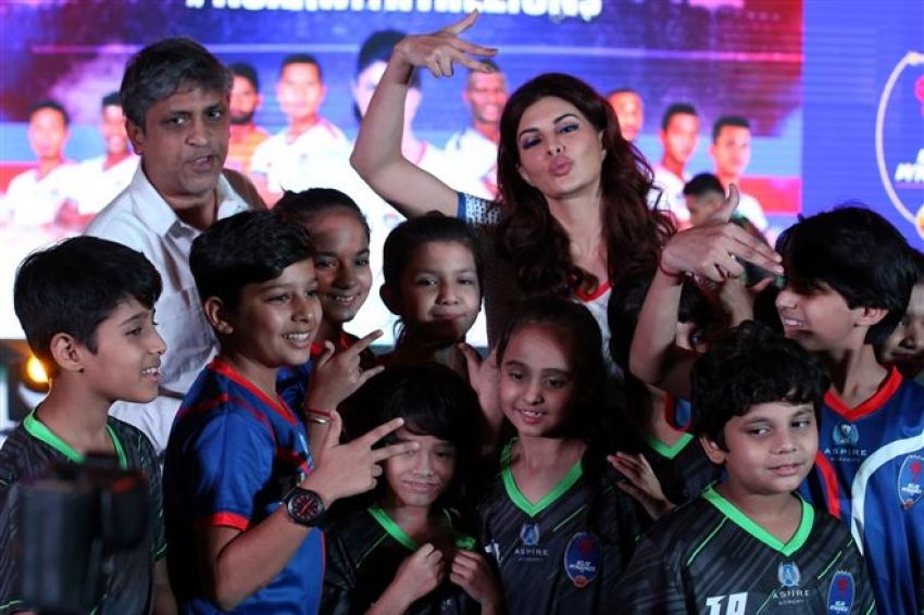 Jacqueline Fernandez Brand Ambassador Of Delhi Dynamos In New Delhi Photos