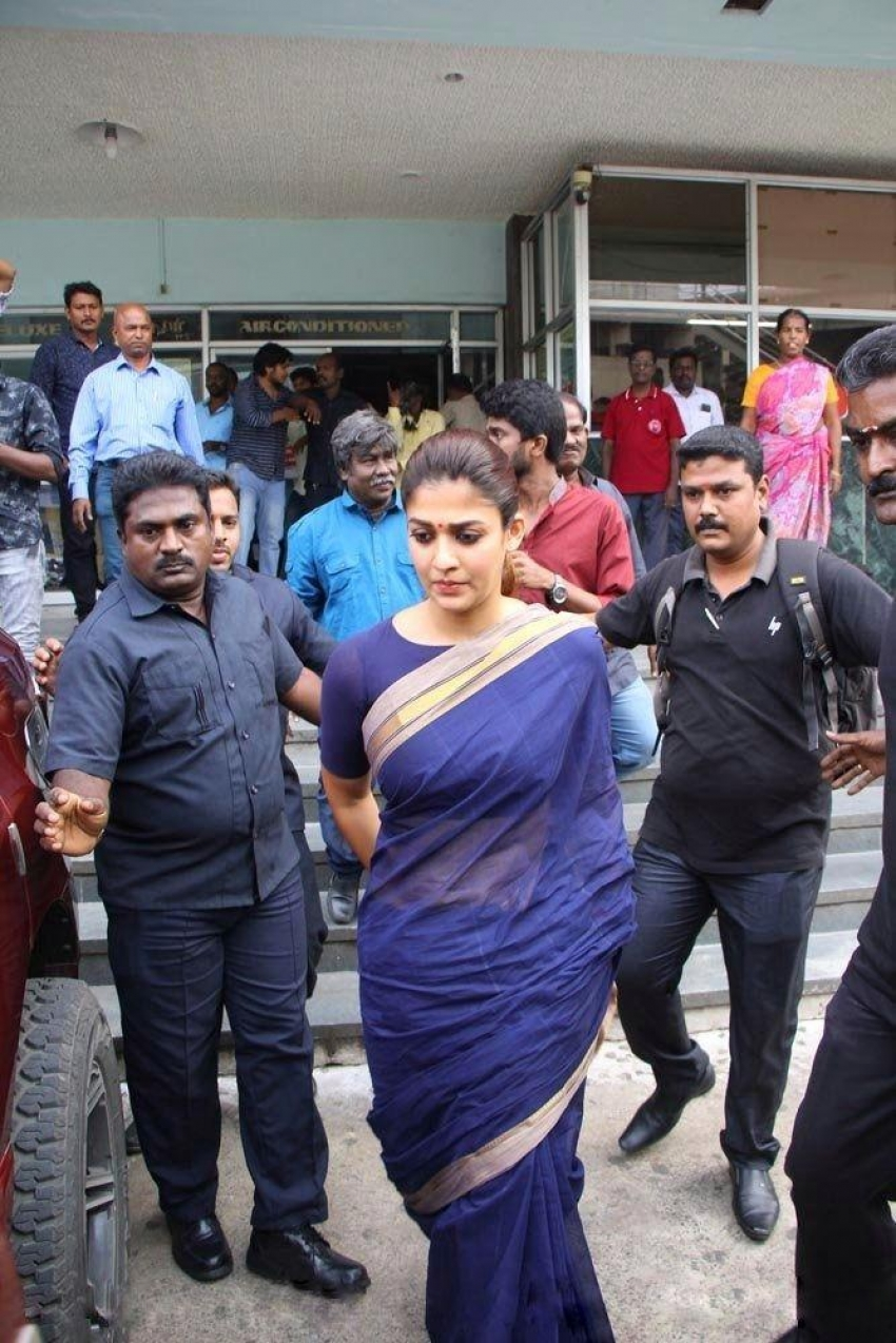 Nayantara Visits Theater For Aramm Movie Promotion Photos