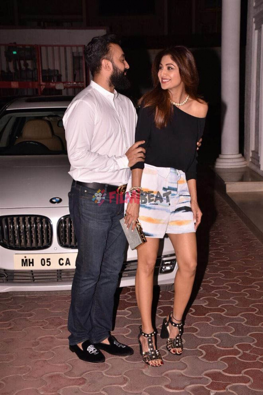Shilpa Shetty & Raj Kundra Spotted Outside Their House On There Wedding Anniversary Photos