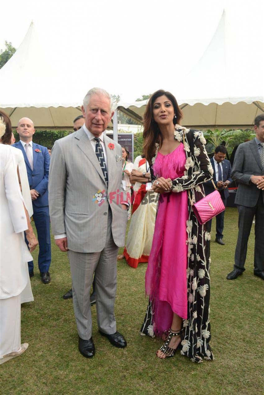 Shilpa Shetty With Prince Charles In New Delhi Photos