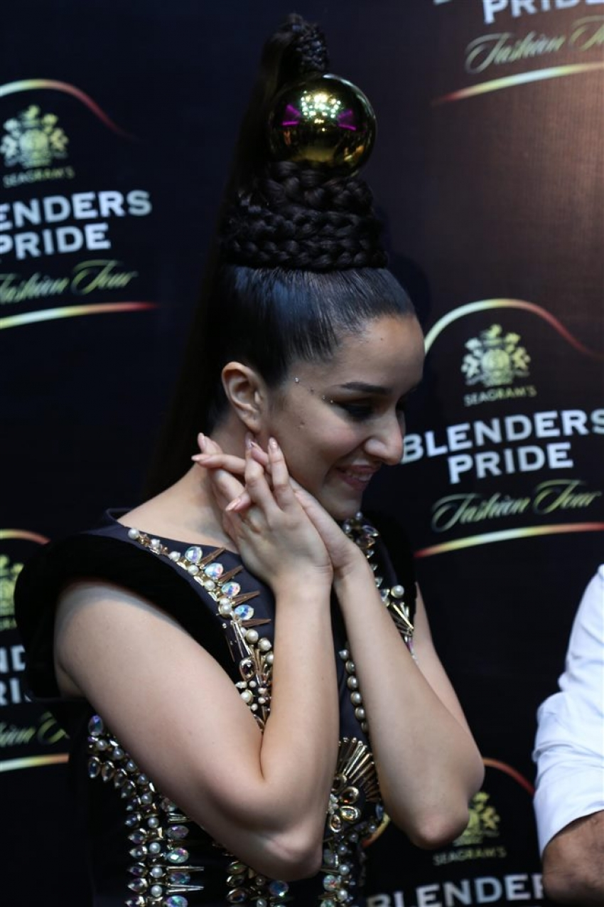 Shraddha Kapoor Walks The Ramp At Blender's Pride Fashion Tour Photos