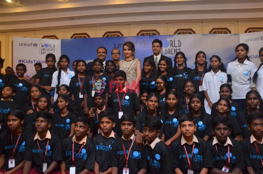 Trisha Joins Hands With UNICEF To Promote Child Rights Photos