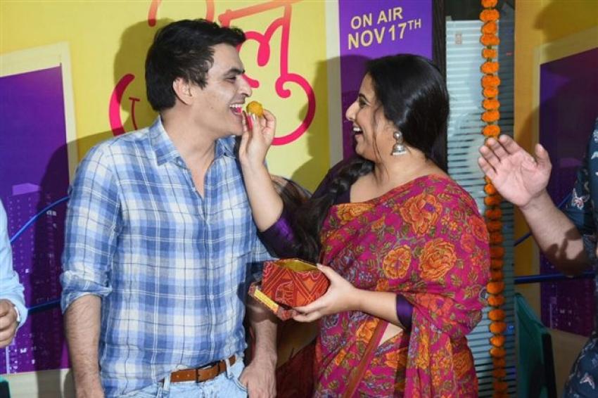 Vidya Balan Promotes Tumhari Sulu In Mumbai Photos