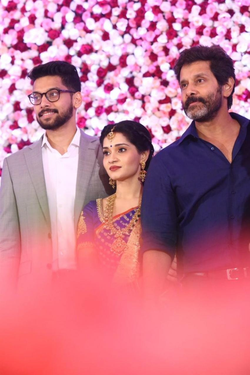 Vikram Daughter Akshita Wedding Reception Photos