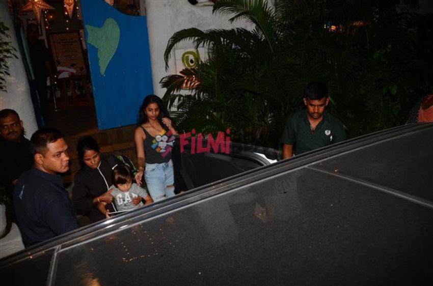 Abram With Suhana Khan Snapped At Xmas Bash 2017 Photos
