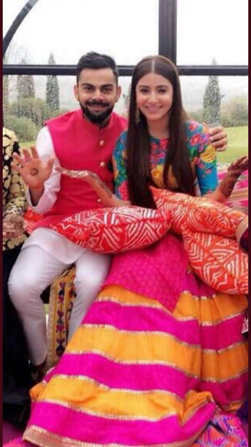 Anushka Sharma And Virat Kohli Mehandi Ceremony Photos