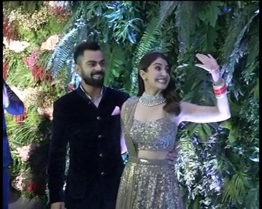 Anuskha Sharma & Virat Kohli Wedding Reception In Mumbai Photos