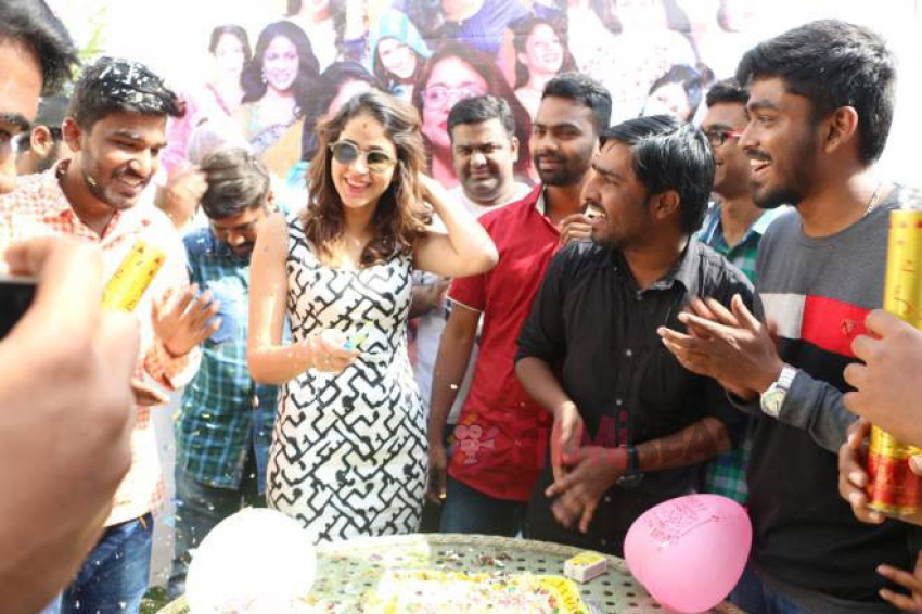 Lavanya Tripathi Birthday Celebrations With Fans Photos