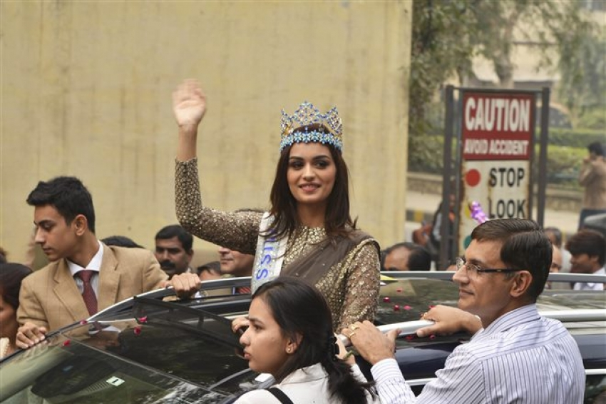 Manushi Chhillar During Parade Show At DRDO Complex Timarpur In Delhi Photos