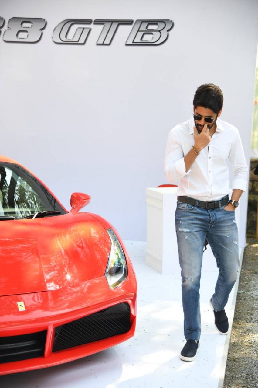 Naga Chaitanya at Hyderabad Supercar Show 2017 Photos