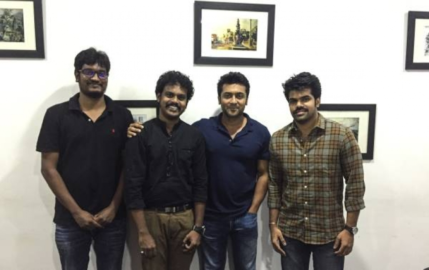 Rajinikanth & Suriya Wish Chennai Engira Madras Movie Team Photos