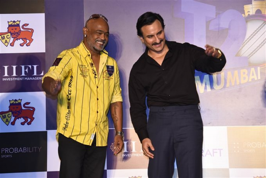Saif Ali Khan Unveil Official Logo T20 Mumbai League Photos