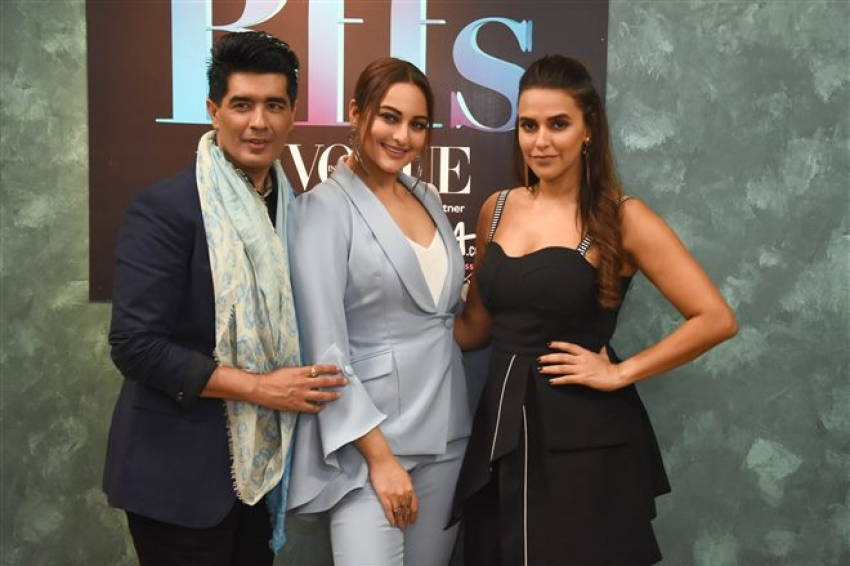 Sonakshi Sinha, Neha Dhupia & Manish Malhotra At Colours Infinity Bff's With Vogue Photos