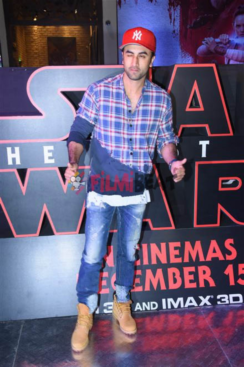 Ranbir Kapoor & Other Celebs At Star Wars Special Screening Photos