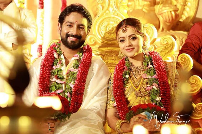 Actress Bhavana & Naveen Marriage Photos