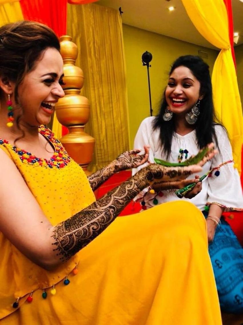 Actress Bhavana Mehendi Function Photos