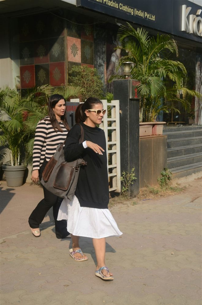 Actress Kajol Spotted At Vikrams Store Photos