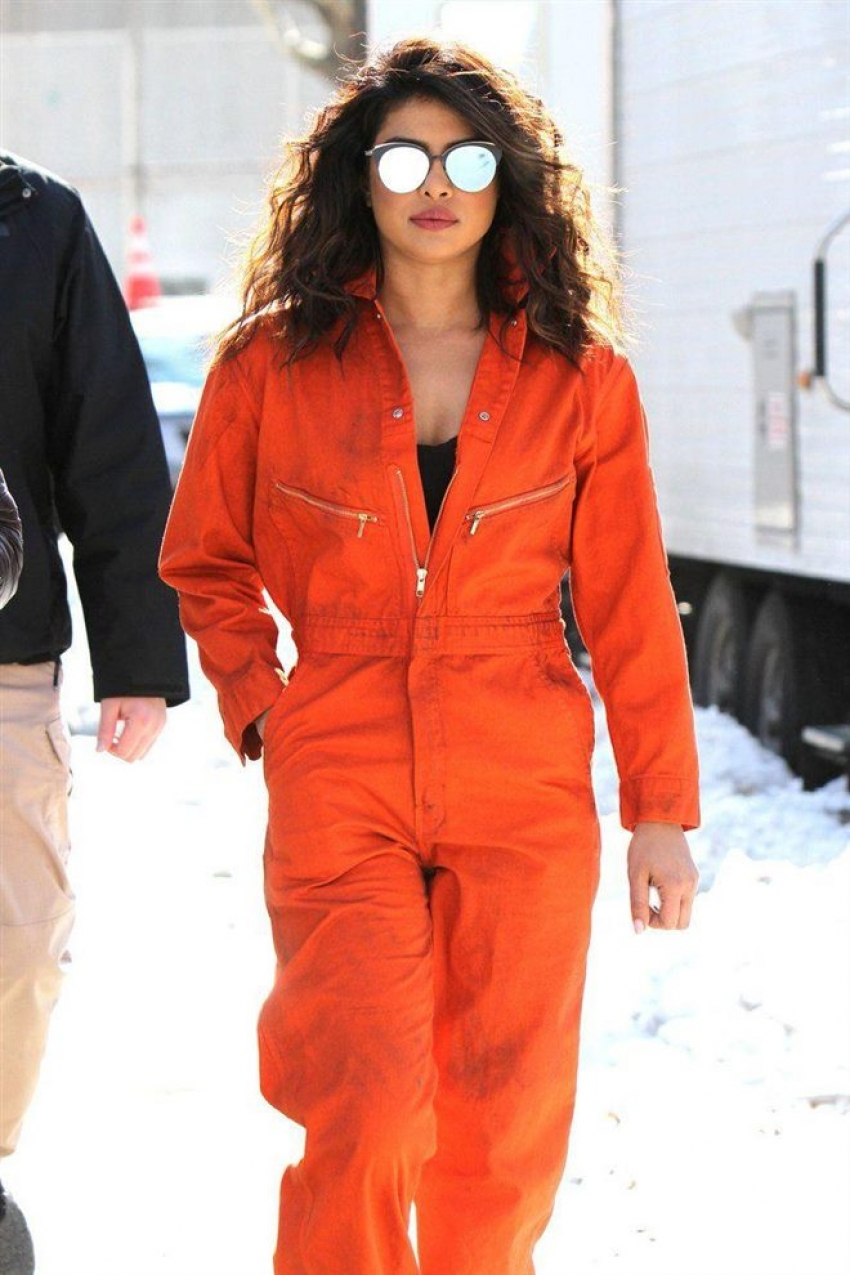 Priyanka Chopra On The Sets Of Quantico Photos