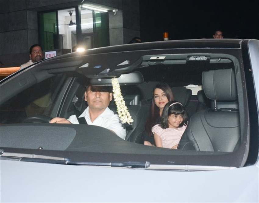 Aishwarya Rai, Abhishek Bachchan & Aaradhya Spotted At BKC Bandra Photos