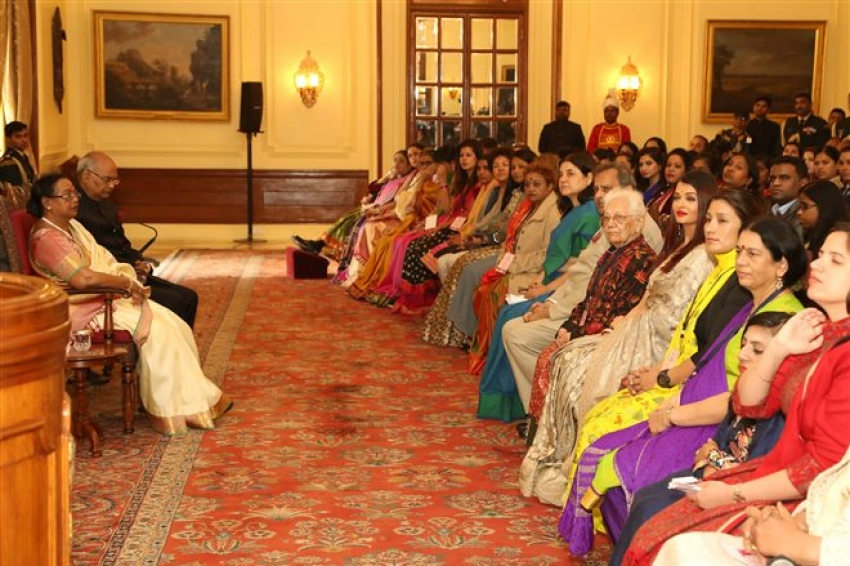 Aishwarya Rai Meets President Of India In Delhi Photos