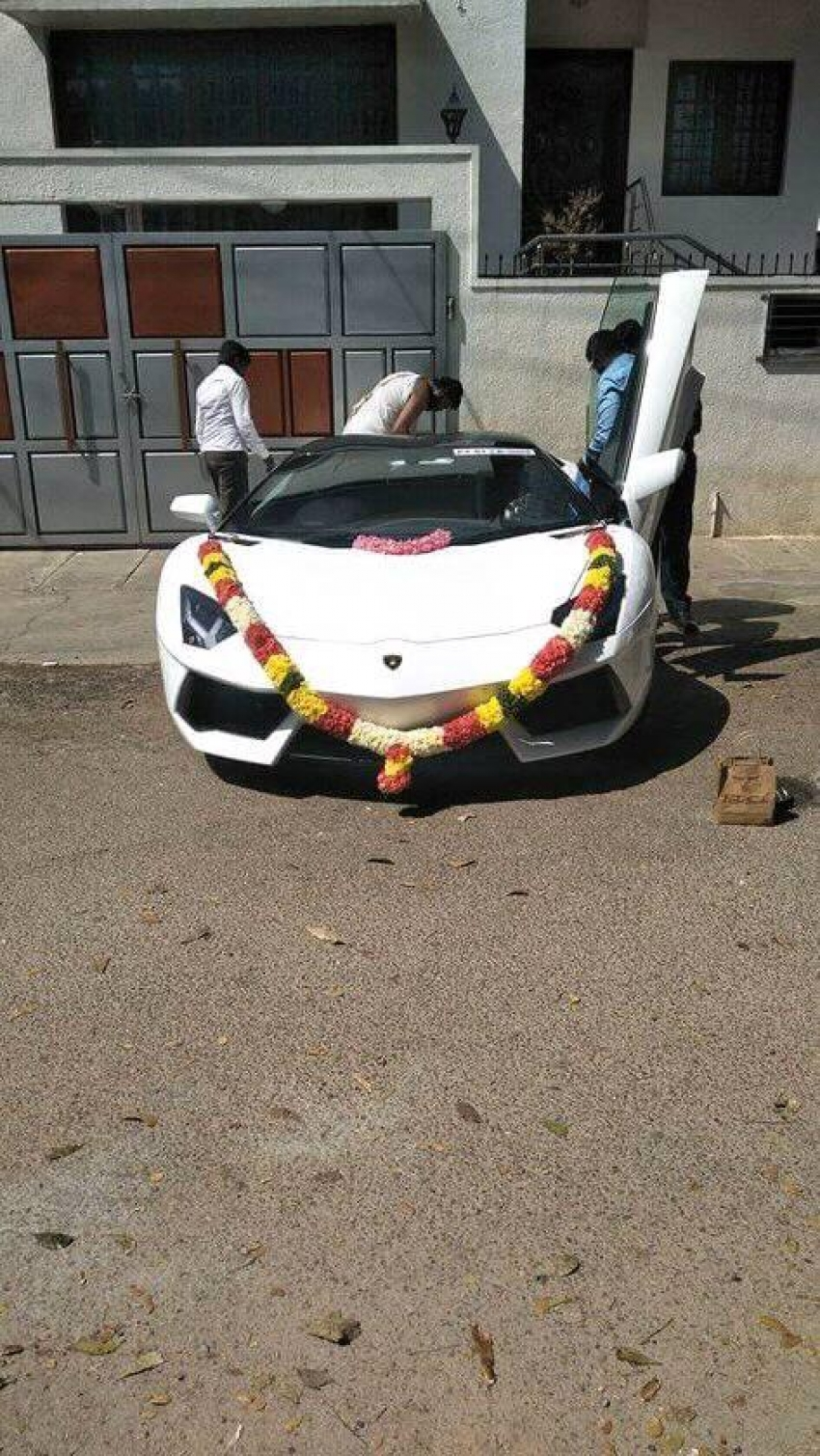 Challenging Star Darshan New Lamborghini Car Photos