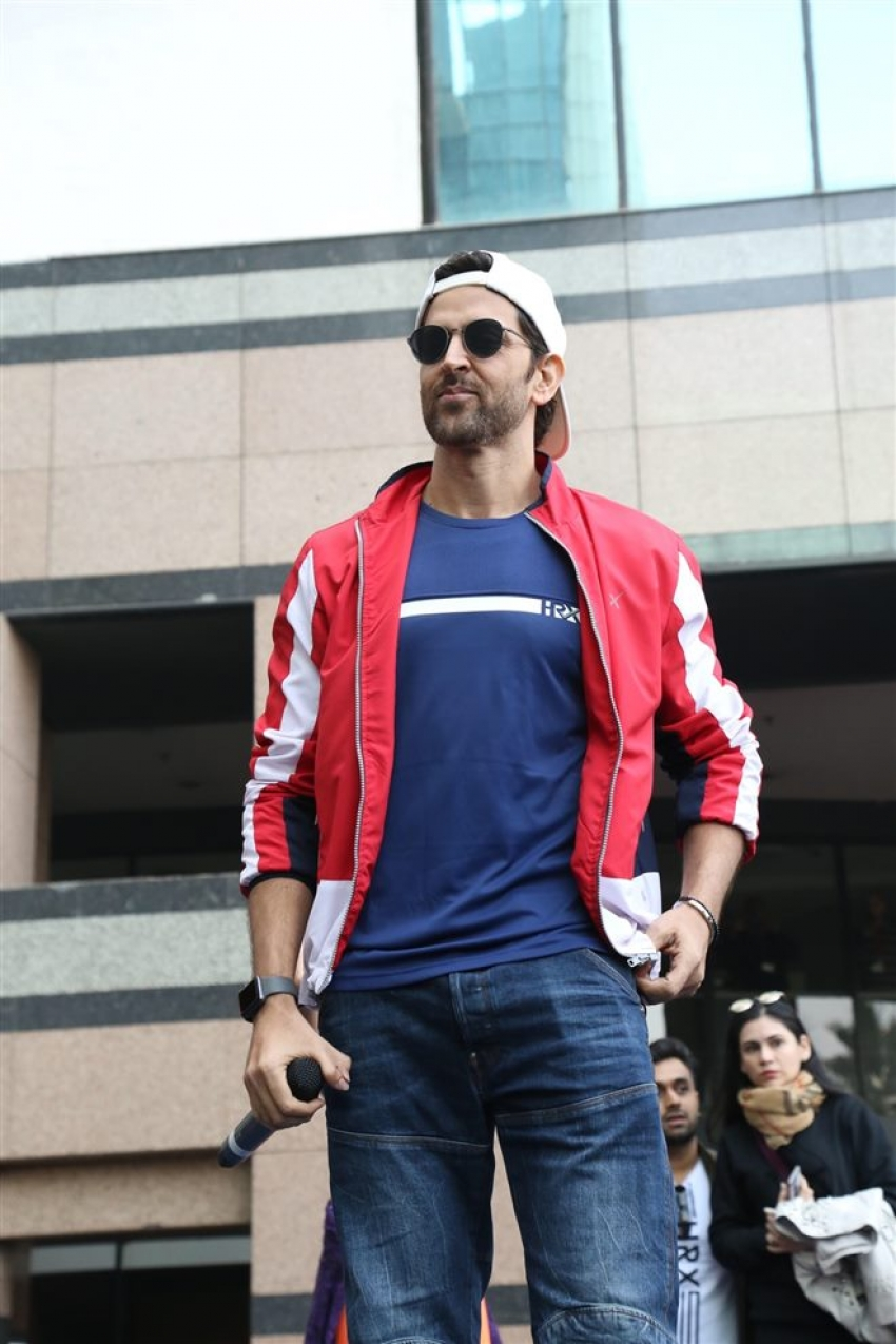 Hrithik Roshan At Launch Of HRX Cult Fit Centre In Gurugram
